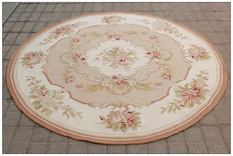 shabby chic rugs 6x6 shabby chic aubusson rug light pink ivory