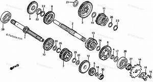 Honda Motorcycle 1983 Oem Parts Diagram For Transmission