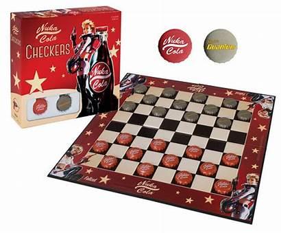 Fallout Checkers Nuka Cola Juego Mesa Damas