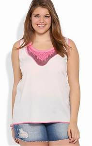 Deb Shops Plus Size Tank Top with Silver and Neon Sequin