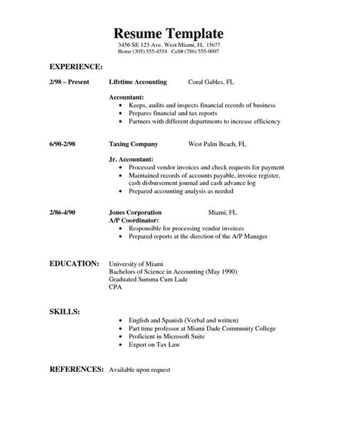 Easy Way To Do A Resume by Simple Resume Template Berathen