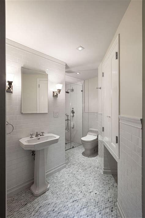 pre war apartment traditional bathroom  york