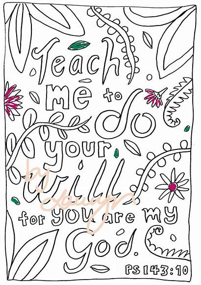 Coloring Psalms Psalm Colouring Adults Easy Teach