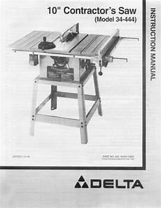 Delta Rockwell 10 U0026quot  Contractor U0026 39 S Saw  Model 34