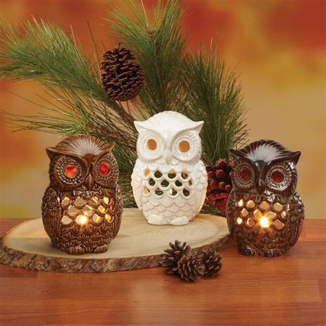 owl candle holder owl decorations with archaic owl candle holders figurines