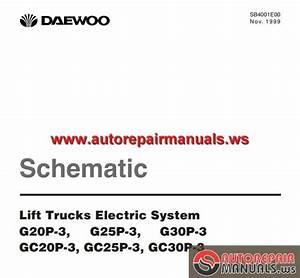 Daewoo Lift Trucks Electric System Schematic