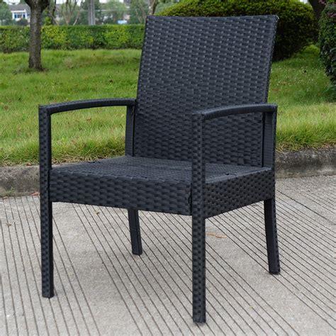 tangkula  pcs outdoor rattan patio furniture set backyard garden furniture seat cushioned black