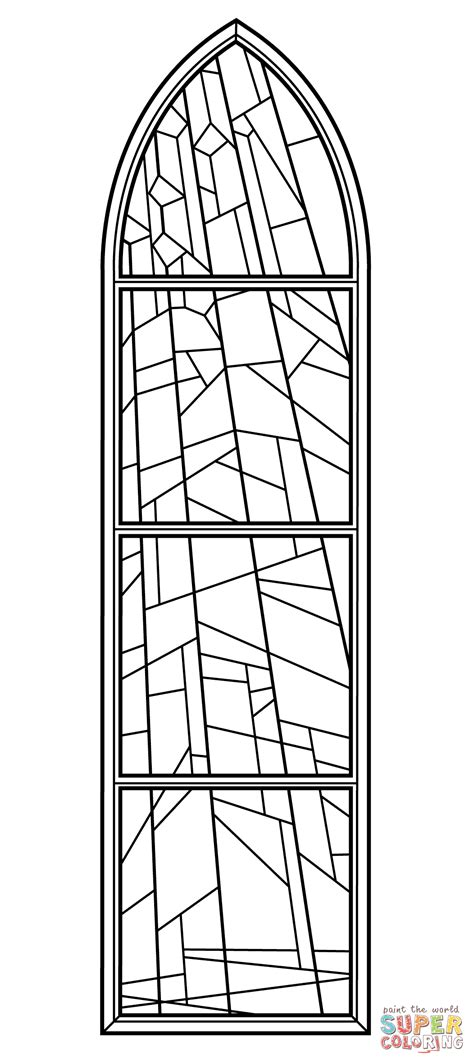 Kleurplaat Kerk by Church Window Coloring Pages Coloring Home