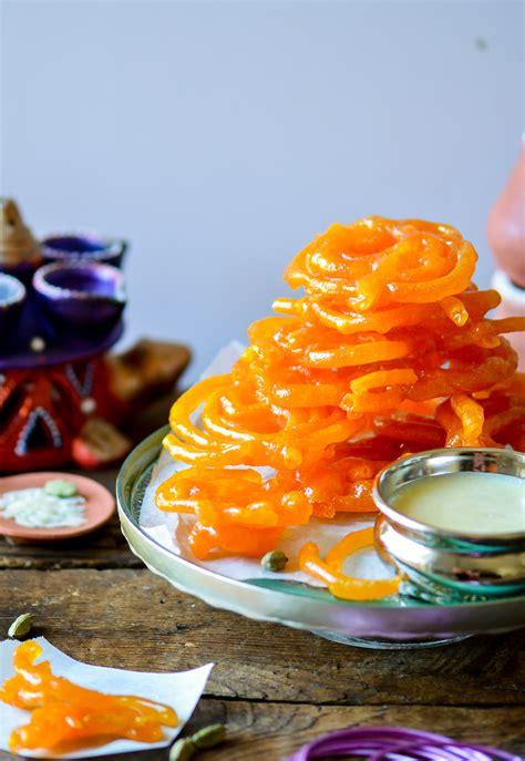 orange colored desserts sweet jalebi a classic indian dessert recipe