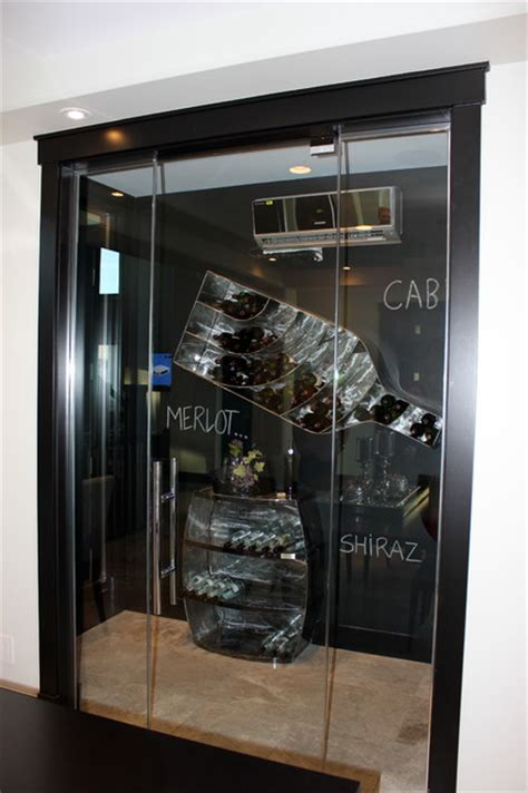 Top Shelf Closets And Glass by Custom Interior Glass Traditional Wine Cellar