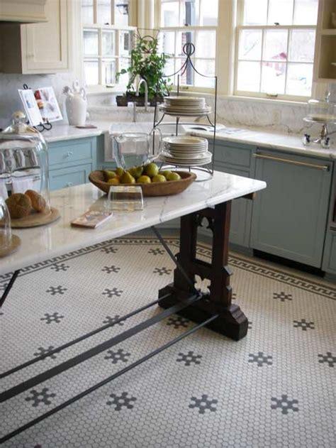 aesthetic oiseau hexagon tile kitchen floor