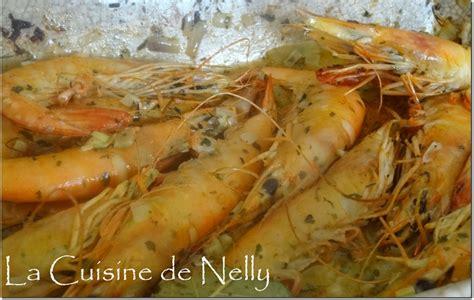 cuisiner gambas crues gambas au four sauce crémeuse au whisky la cuisine de nelly