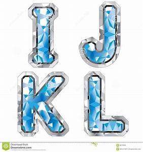 gem letter i j k l stock photography image 8270352 With gem letters