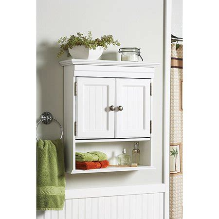 Better Homes And Gardens Cottage Wall Cabinet, White