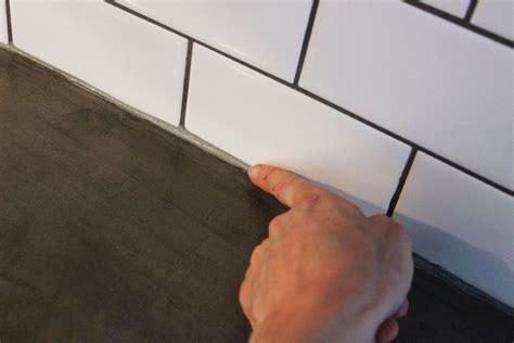 Caulking Kitchen Backsplash by How To Install A Subway Tile Kitchen Backsplash