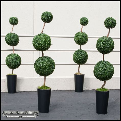 Round Topiary Trees, Outdoor Artificial Ball Topiaries