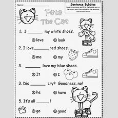 Free Pete The Cat (by James Dean And Eric Litwin) Fill In The Blank, Multiple Choice Practice