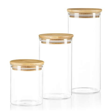 Vorratsdosen Glas Mit Deckel by Dimono Vorratsglas Aus Glas Mit Bambus Deckel
