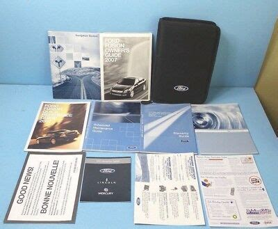ford fusion owners manual  navigation ebay