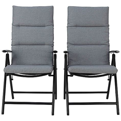 reclining garden chairs asda george home haversham recliner chairs in charcoal and grey