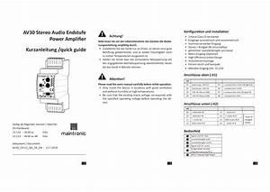 Main U00adtronic Av30ec Installation Amplifier Owner U0026 39 S Manual
