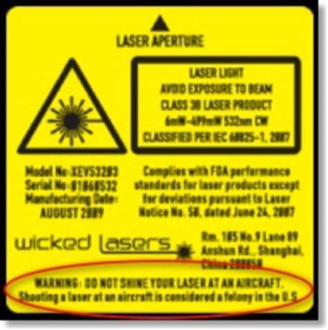 laser light warning label wicked lasers laser pointer safety statistics laws