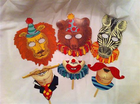 Vintage Circus Themed Masks. .00, Via Etsy.
