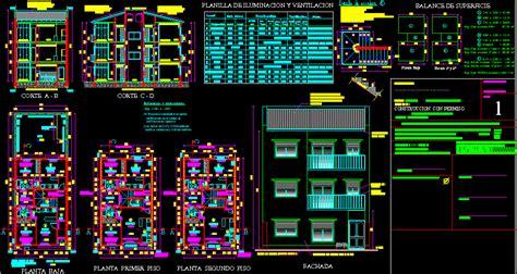apartment building dwg section  autocad designs cad