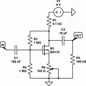 gate biasing of common source mosfet amplifier With fet biasing