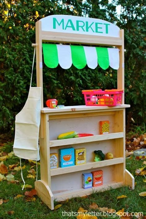 build  changeable play stand lemonade market post