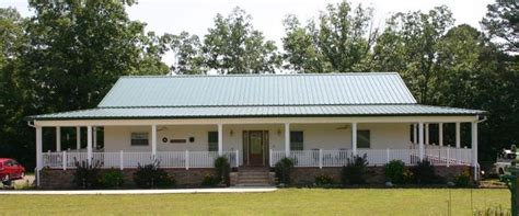 ranch house with wrap around porch kodiak steel homes prices metal building homes