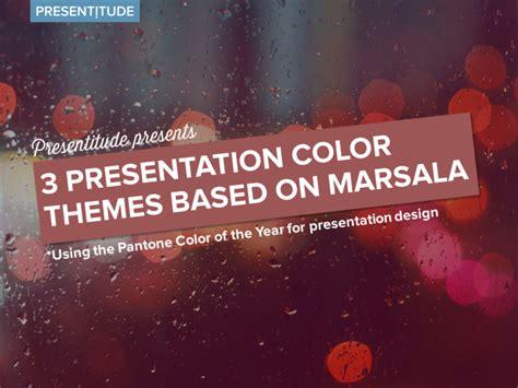 color themes based  marsala presentitude