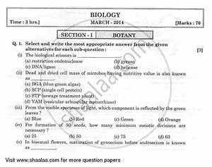 Question Paper - Biology 2013
