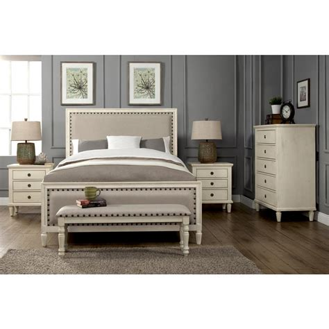 white bedroom set king luxeo cambridge 5 piece white wash king bedroom set with 17820 | white wash luxeo bedroom sets lux k2501 wht5 64 1000