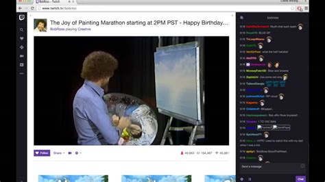 Twitch Chat Going Crazy Over Bob Ross Youtube