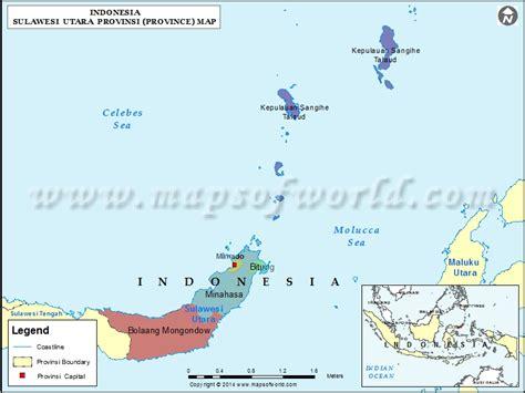 sulawesi utara map map  sulawesi utara province indonesia