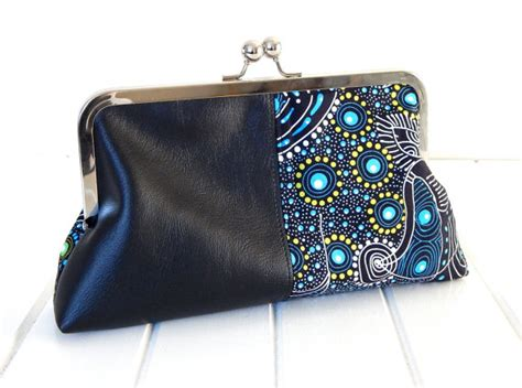 print faux leather clutch cool clutch with faux leather and print by boonlell bags