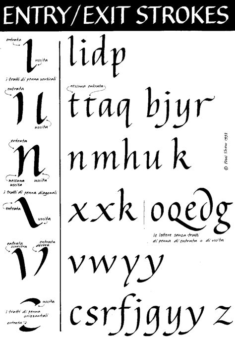 Paul Shaw Letter Design » Tutorial No 5—calligraphy The Basics Of Italic 3