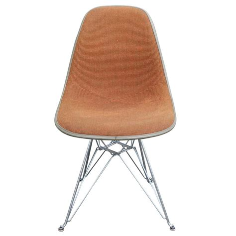 eames molded fiberglass side upholstered shell chair
