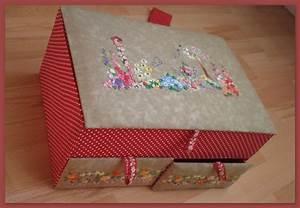 Boite Cartonnage Tuto Gratuit : cartonnage boite a couture tuto ~ Louise-bijoux.com Idées de Décoration
