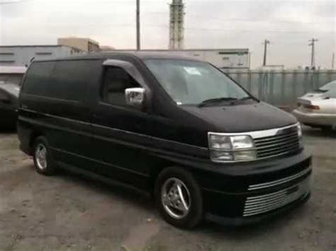 Nissan Elgrand Modification by Nissan E50 Elgrand Black Rider 3 0l T D