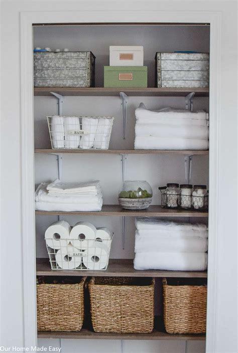 Bathroom Linen Closet Reveal • Our Home Made Easy