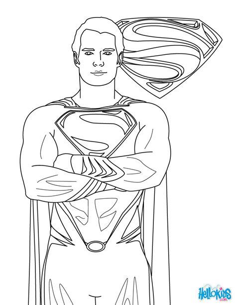 superman clipart coloring sheet pencil   color