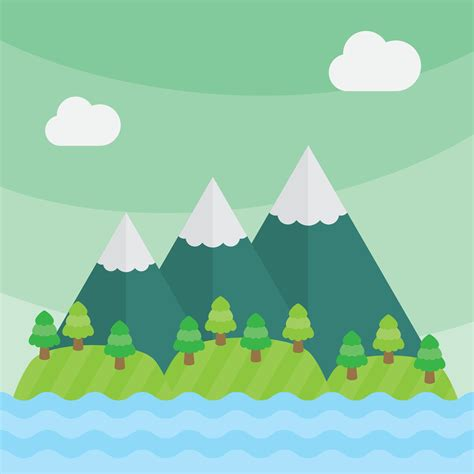 Blog Nature Trail Templates by Mountain Vector Landscape Download Free Vector Art