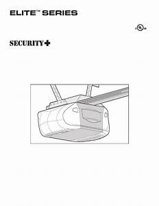 Liftmaster 3595 Elite Series Owner U0026 39 S Manual