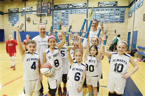 st teresa sacred heart lead cyo basketball champions