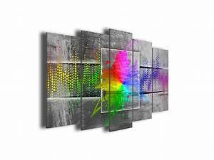 Tableau Moderne Coloré : tableau sur toile ultra color moderne d coration murale declina ~ Teatrodelosmanantiales.com Idées de Décoration