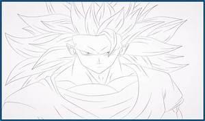 imagenes de dragon ball z para colorear de goku en fase 3 ...