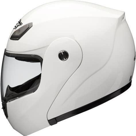 shox bullet flip  front white motorcycle helmet bike