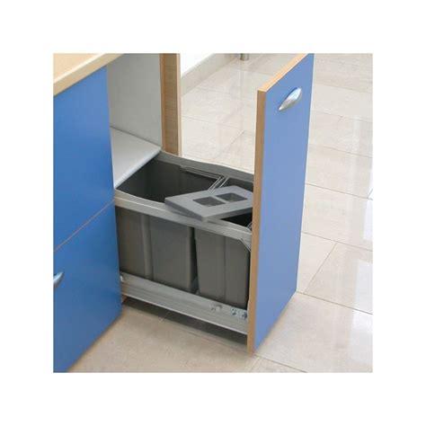 poubelle de cuisine coulissante poubelle bacs 24 5l gris foncé